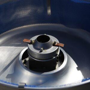 binnenkant van een suikerspinmachine