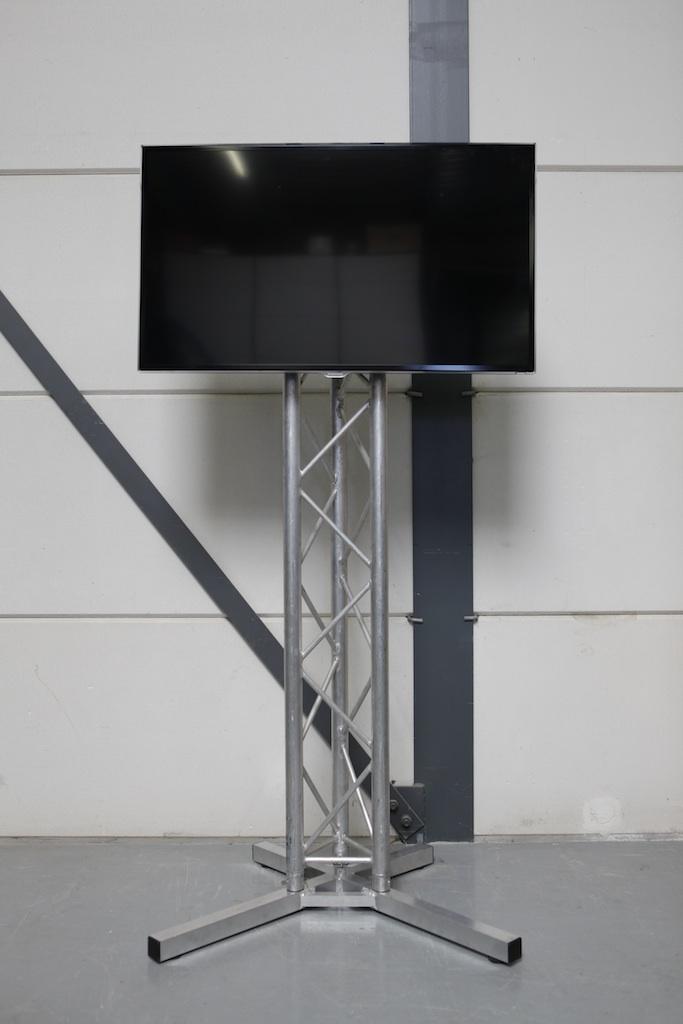 Televisie op truss statief voor verhuur