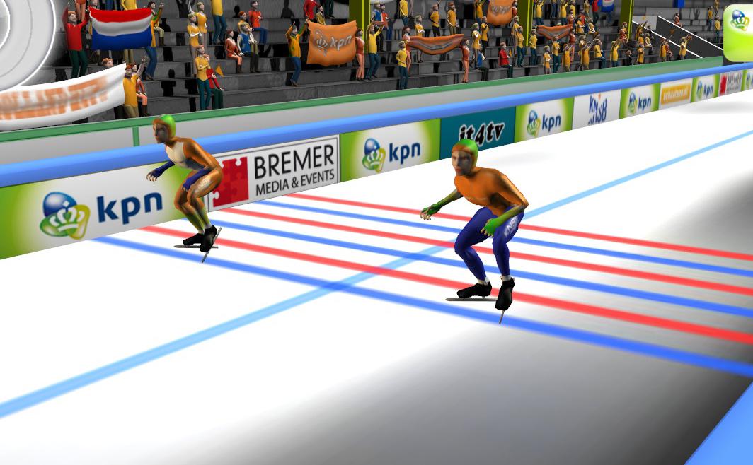 Beeld schaatssimulator start van voor
