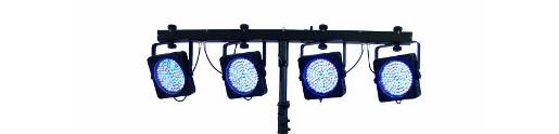 Led-par bar 4 lampen RGBW aan een par bar LED verlichting te huur