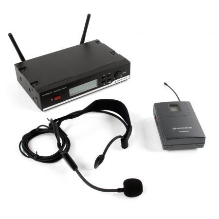 Sennheizer Draadloze microfoon met ontvanger en beltpack zender huren te huur verhuur