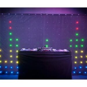 Chauvet Motion Drape LED achter DJ-booth