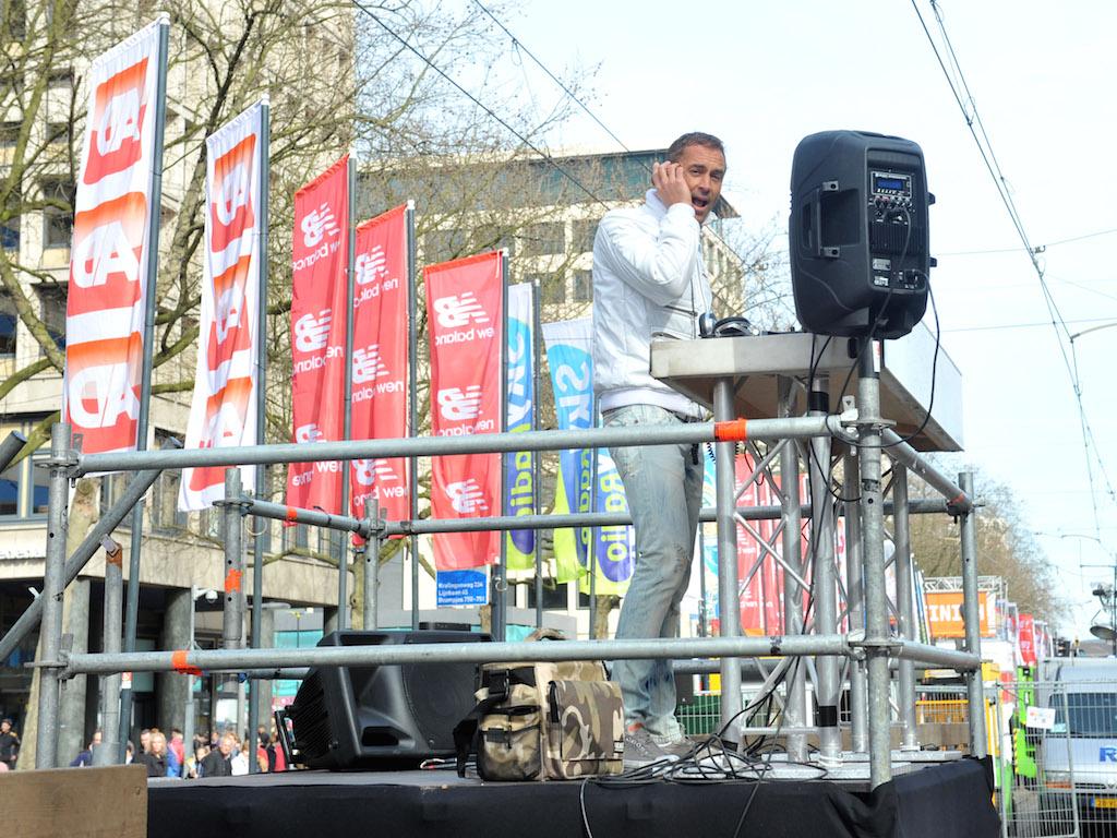 DJ Booth op truss bij de marathon in Rotterdam
