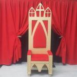 Sinterklaas stoel huren, sint stoel, sinterklaas decor